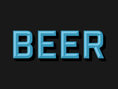 B is for Beer and Bevel type type design industry bevel