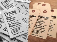 Frame Business Cards
