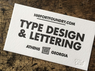 Fort Business Cards design type fort business cards