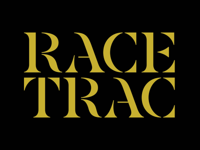 Race Trac stencil letters type design typography type