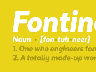 Fontineer font type design type