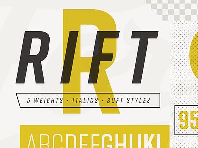 Rift sans condensed font family type design typeface font