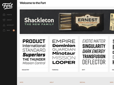 New Fort. New Font. family font type web design web typeface