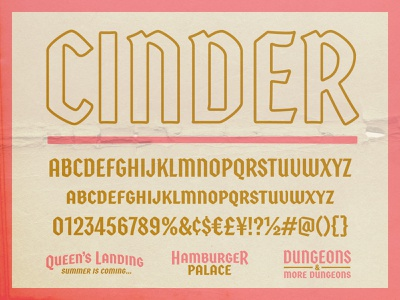 Cinder Typeface specimen typography typeface design type design blackletter family letters font typeface type