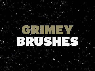 Grimey Brushes (Free) photoshop brush brushes free freebie grunge design vintage texture
