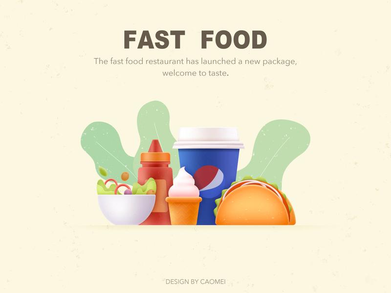 Fast Food micro texture ui food design illustration