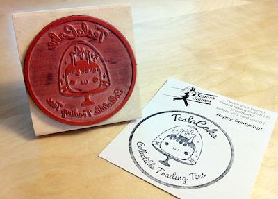 TeslaCake Rubber Stamp