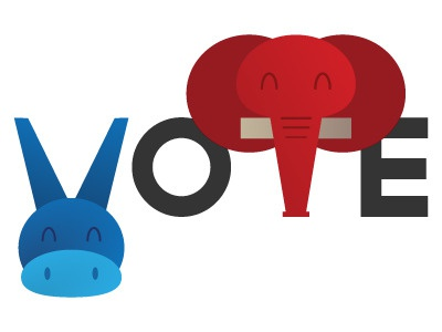 """AIGA """"Get Out the Vote"""" Poster (no texture)"""