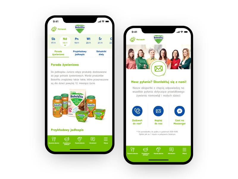 BoboVita app bobovita nutrition food parenting children appstore ios icon app ux design