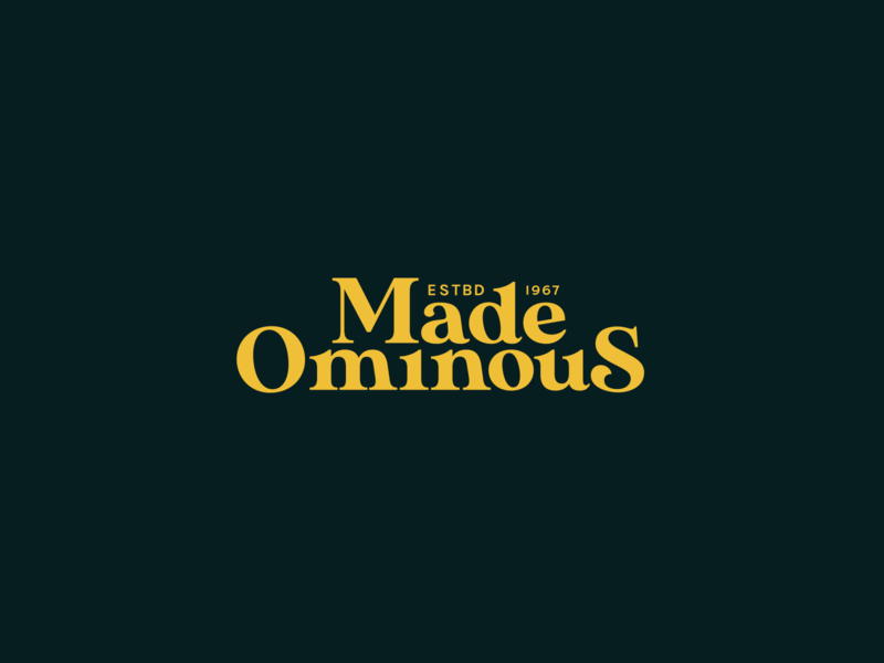 Made Ominous vintage branding typography design color