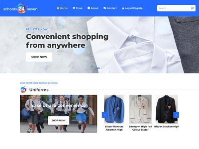 Schools 24 Seven eCom store branding website ecommerce