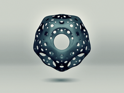 Cavus Icosahedron topmod structure solid shape radiolaria math industrial illustration icosahedron bloom icosahedron hole geometric floating cinema 4d cavus icosahedron 3d 3d art