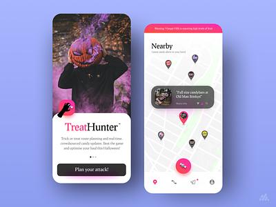 Treat Hunter Concept interface weekly warm-up halloween mobile app mobile apps weekly challenge weeklywarmup weekly branding app ux design ui visual design design
