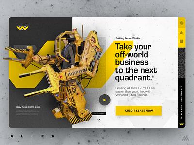 Sci-Fi Exploration #2 - Weyland-Yutani Corp Finance alien scifi science-fiction website web ux typography visual design ux design interface desktop app branding ui design