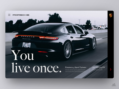 Porsche UX/UI luxury porsche cars typography website ux web ux design visual design interface desktop branding ui design