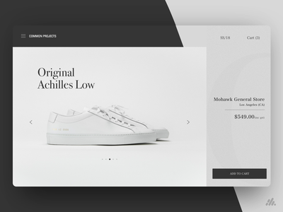 Common Projects Landing Page sneakerhead sneakers sneaker shoes luxury mobile web app website typography desktop ux visual design ux design interface branding ui design