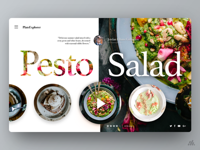 Plate Explorer - Desktop UI/UX food and drink food web typography website desktop app ux visual design ux design interface branding ui design