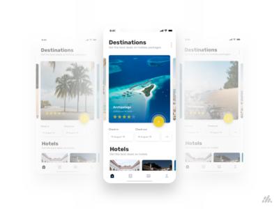 Travel App Design UX/UI