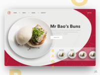 Mr Baos Restaurant Concept - Desktop UI/UX