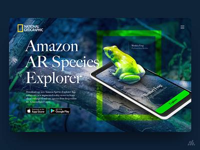 National Geographic Frog  - App UX/UI mobile web typography website desktop app ux visual design ux design interface branding ui design