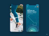 NIKE Footrace Mobile App Concept