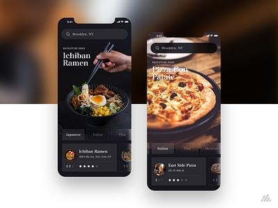 Food App Concept food  drink italian food italian ramen pizza food app food mobile web typography app website desktop ux visual design ux design interface branding ui design