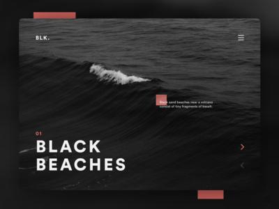 Black Beaches UI