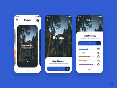 Relax UI Concept userinterface ios app typography visual design ux design interface branding ui design