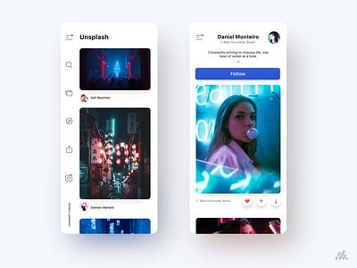 Clean Unsplash UI Concept mobile app design unsplash ios clean ui clean mobile app ux ux design interface visual design branding ui design