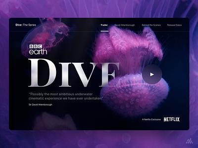 Dive Lander Concept minimalist clean ui design clean ui clean design photography typography website desktop ux branding ux design interface visual design ui design