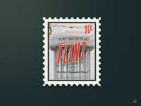 Visit Flint Michigan Stamp