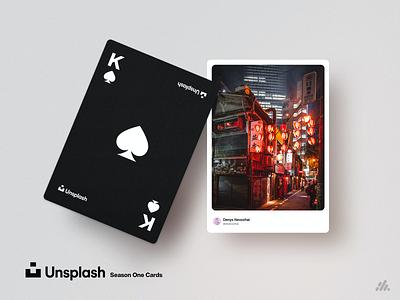 Unsplash Playing Cards - Season One weeklywarmup photography card design games unsplash clean print cardstock cards warmup rebound photoshop typography branding visual design design