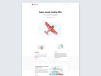Trading APIs landing page design