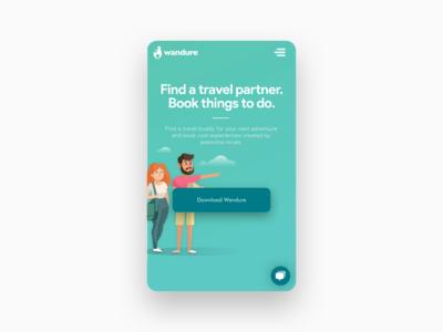 Travel Buddy Website - Mobile Webpage Design
