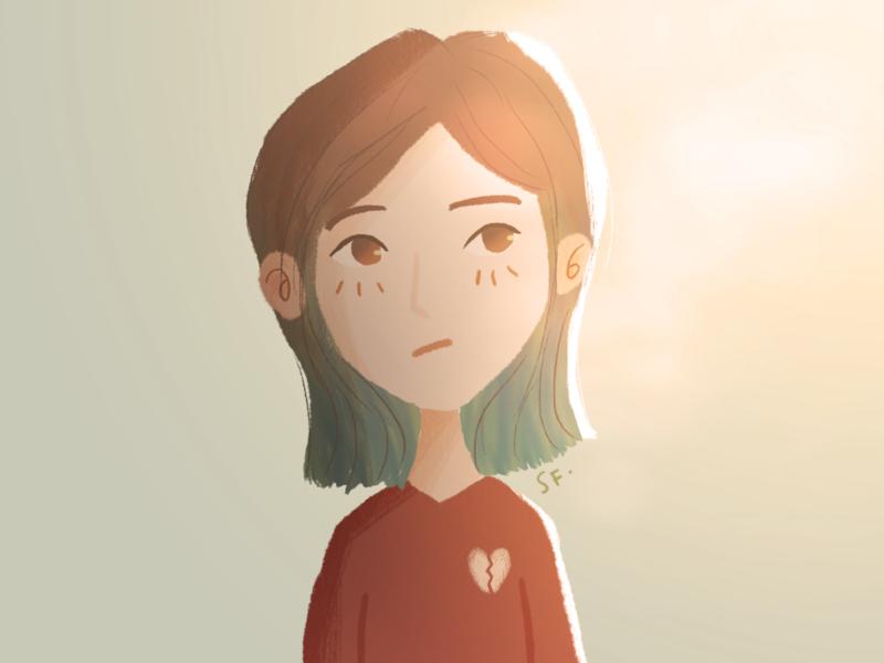 Brokenheart girl brokenheart digital art 2d illustration visual development character design character illustration