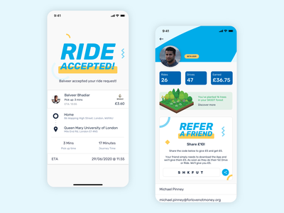 SKOOTRIDE – A ride hailing app colorful ridesharing ios ux app design ui
