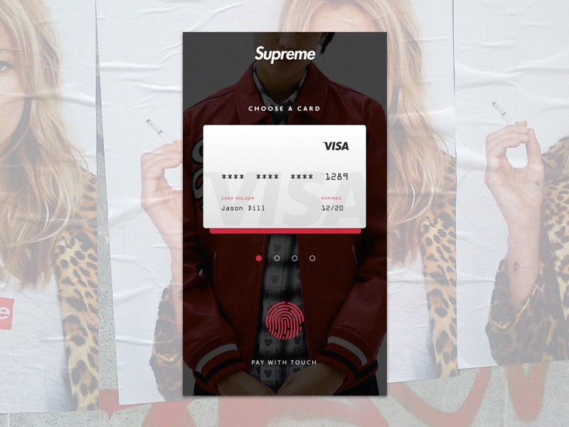 Supreme Dream harbrco ux tampa red credit card checkout iphone supreme florida design daily ui ui