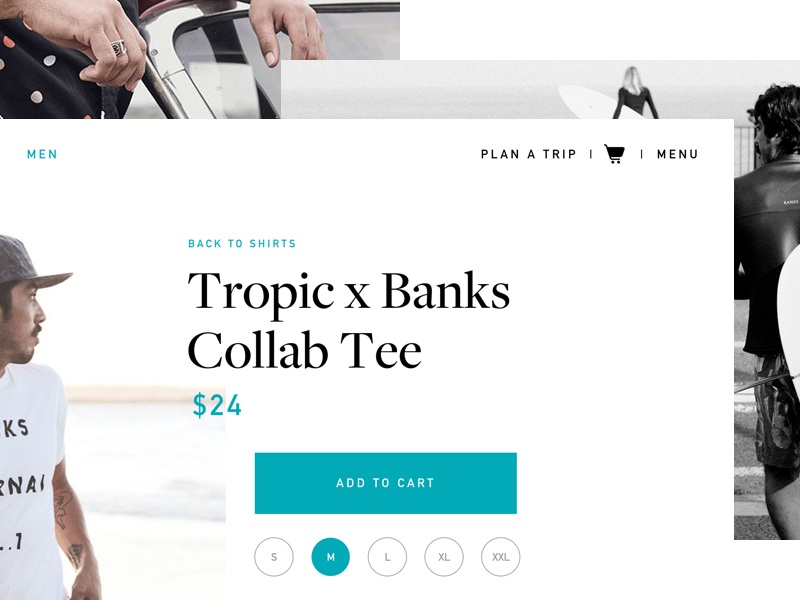 Tropic Shop harbrco ux tampa apparel surf e commerce store tropic surf florida design daily ui ui