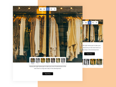 Image Filters interface effect image editing ux ui image filter filter image