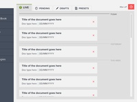 Document listing dialogue