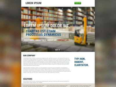 Full site above fold web blur flat