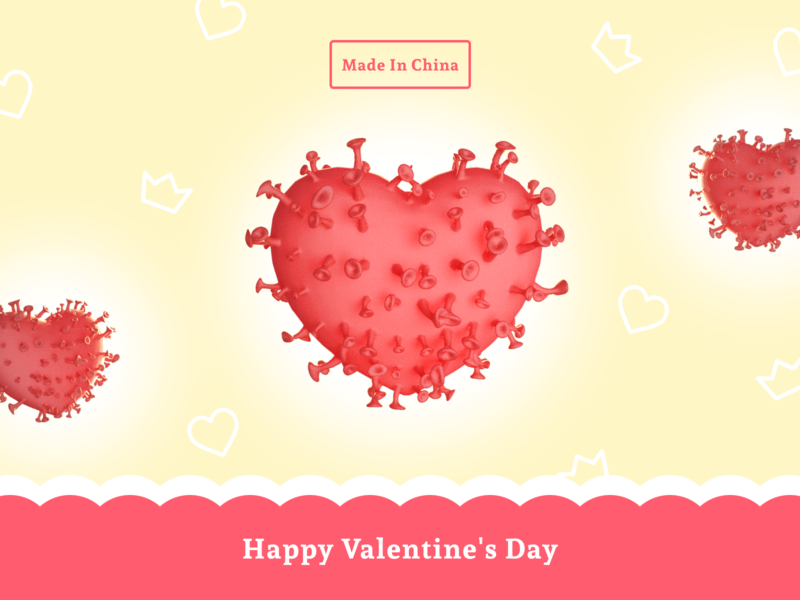 Valentine from china/Китайская валентинка ❤️ graphicdesign digitaldesign creative china valentine render redshift 3d c4d love coronavirus