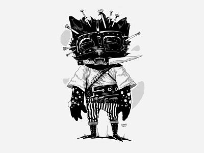 PinCat - Black team uidesign digitaldesign graphicdesign horror horror art game art concept art development 2d art 2d illustrator illustraion