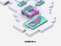 UX/UI development 3d Illustration (Free 3d model)