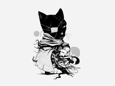 Solid Cat -Black team разработка дизайна создание иллюстраций digital design design digital gameart digital art image picture draw 2d illustration art cat