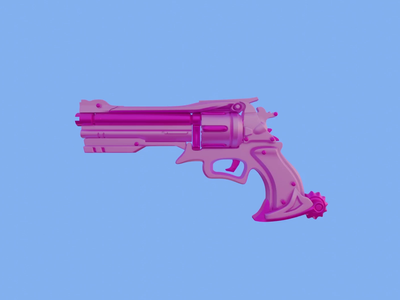 3D Pink gun pink gun graphic design 3d animation animation video eevee blender 3d blender render 3d render 3d art 3d