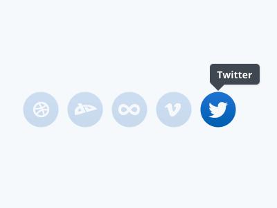 Social Icons Remixed social icons noto sans blue modal speech bubble hover website design