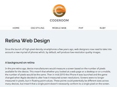 Coderoom Mockup coderoom mockup web design website logo noto sans montserrat raleway minimalist