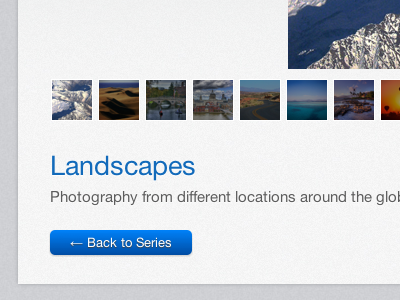 Landscapes landscapes photography website css3 interface gallery daniele delgrosso dandelgrosso