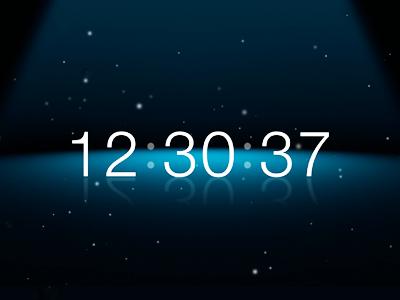 Spotlight Clock Screensaver spotlight clock screen saver screensaver helvetica light dust blue reflection mirror mac